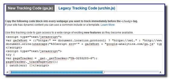 analytics code
